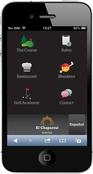 Golf Mobile Web App