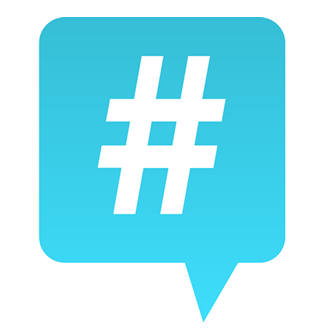 Using hashtags in social media