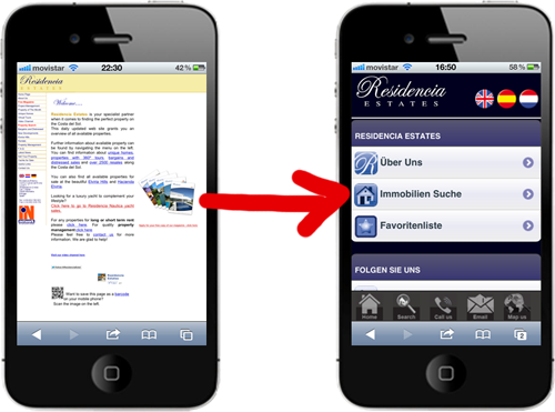 mobile websites marbella